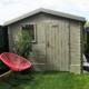 abri de jardin gris décoration jardin