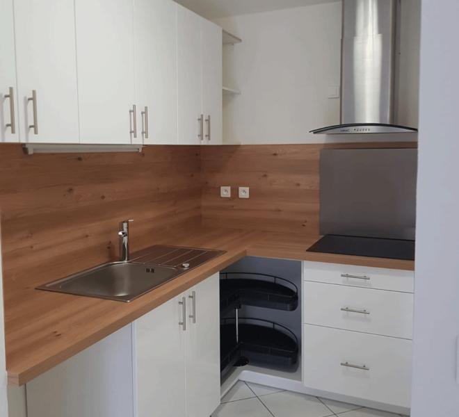 Meuble de cuisine avec meuble d'angle